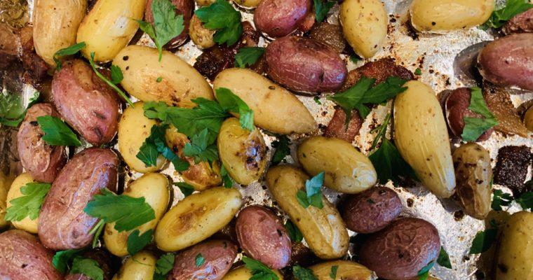 Bacon-Roasted Fingerling Potatoes