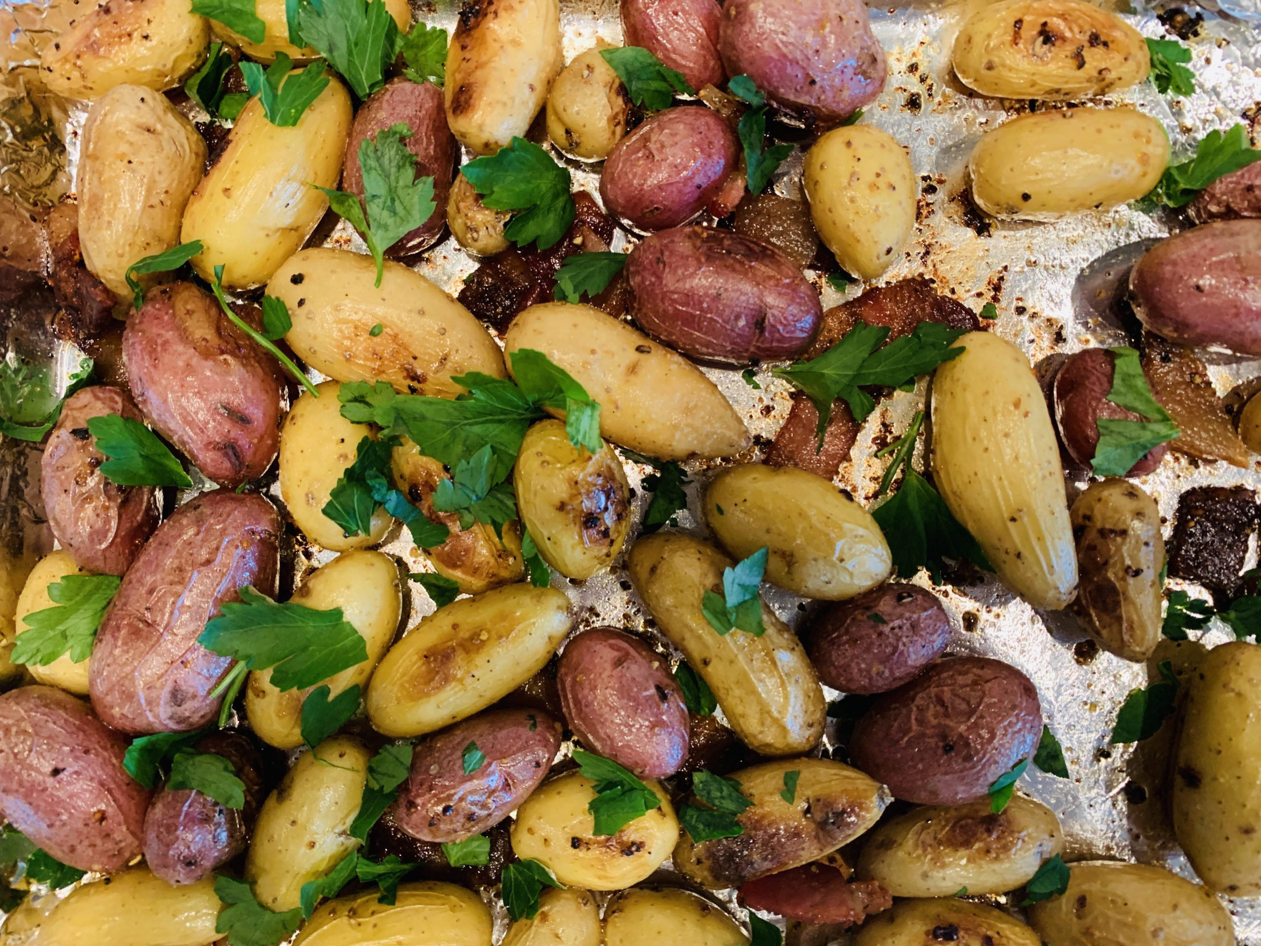 Bacon-Roasted Fingerling Potatoes