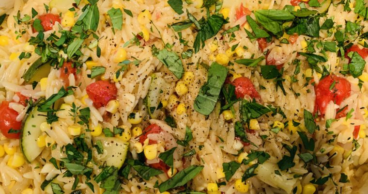 Summer Vegetable Orzo Pasta